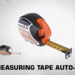 Measuring tape auto-lock