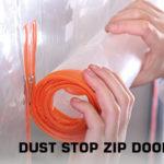 dust stop zip door