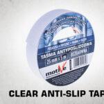 Clear anti-slip tape thumb