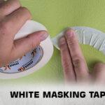 White masking tape thumb