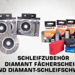 Schleifzubehör - Diamant Fächerscheibe und Diamant-Schleifschwamm thumb