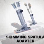 Skimming spatula adapter