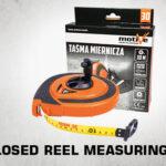 closed reel measuring tape thumb